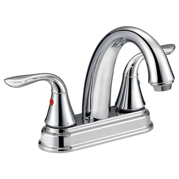 Surplus Bathroom Fixtures: Aqua Plumb Two Lever Bathroom Faucet Chrome