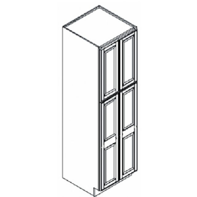 Richmond Bordeaux Kitchen Pantry Cabinet, 24u2033 W X 24u2033 D X 84u2033 H