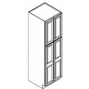 Island Java Kitchen Pantry Cabinet, 24u2033 W X 24u2033 D X 84u2033 H