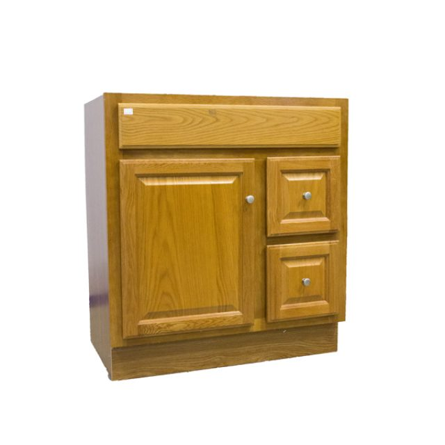 Bathroom Vanity Regal Oak, 30u2033 X 21u2033 1 Door, 2 Drawers