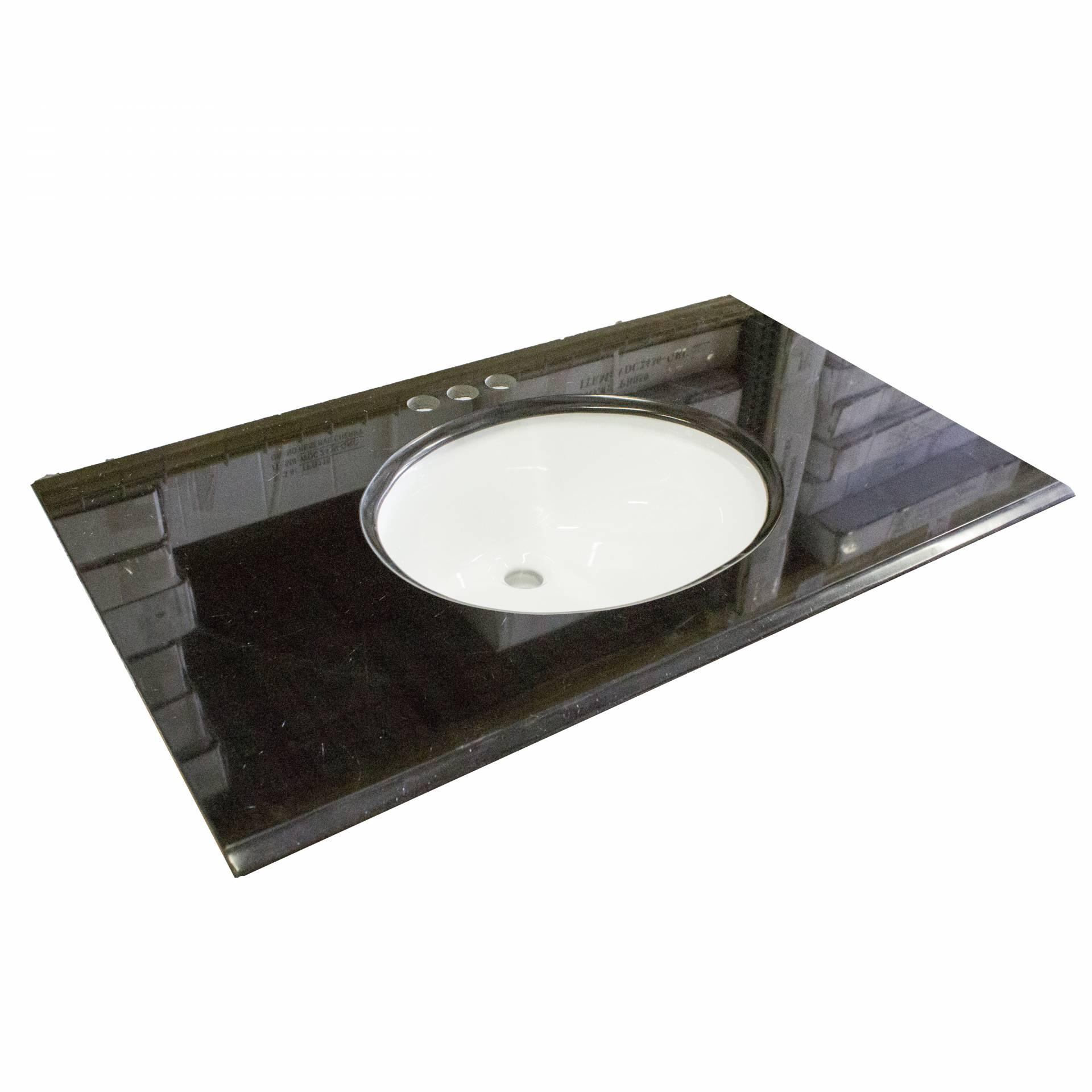 Granite Vanity Top 37 X 19 Black Heebys Surplus Inc