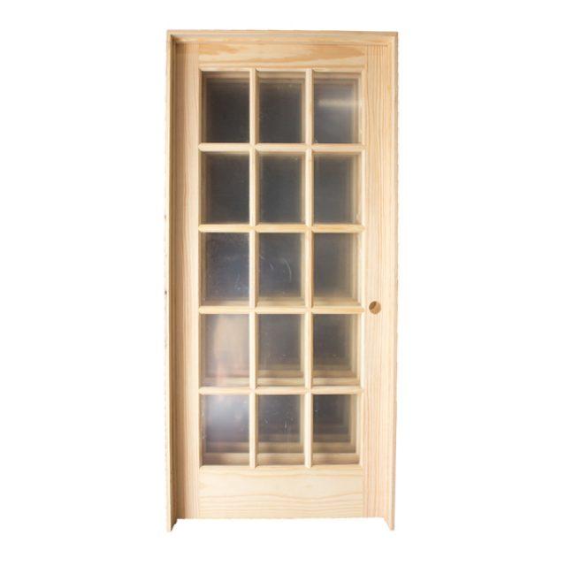 30u2033 15 Lite Pine Prehung Door RH