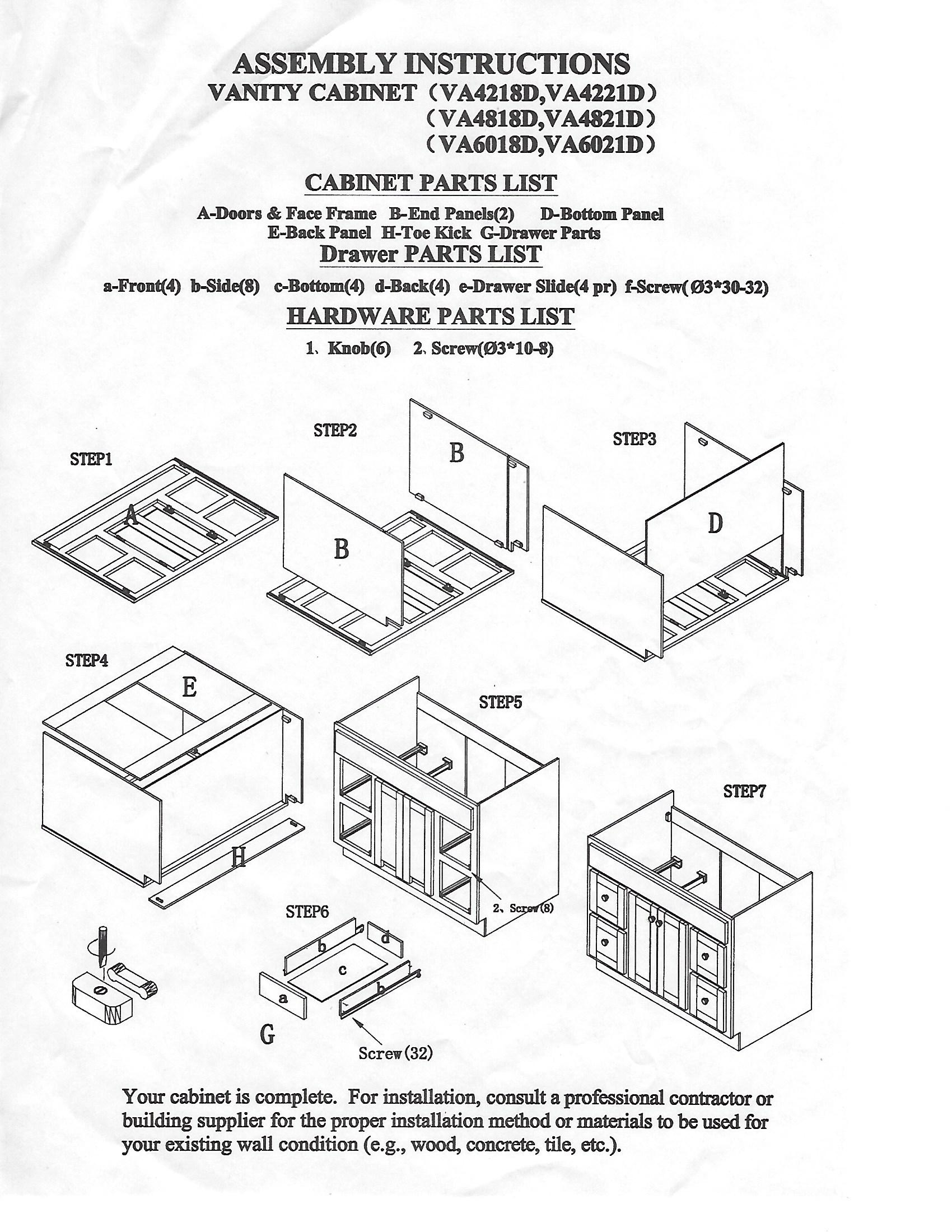 Install A Recessed Cabinet Manual Guide