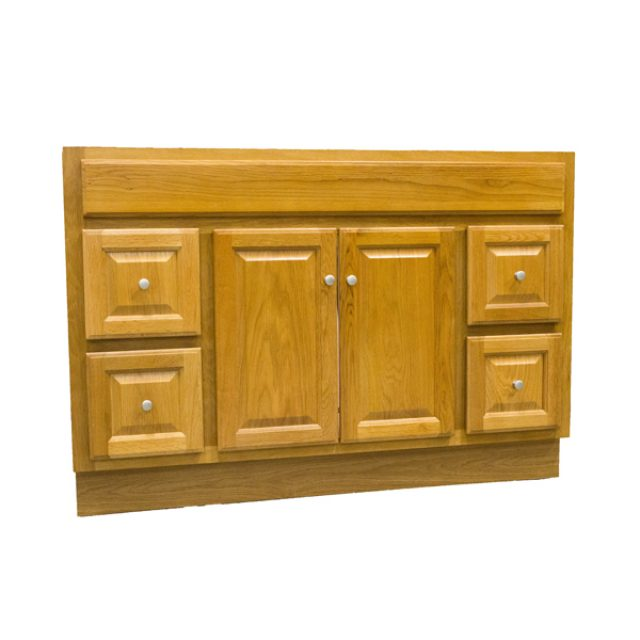 "Bathroom Vanity Regal Oak, 48"" x 18"" 2 Door, 4 Drawers ..."