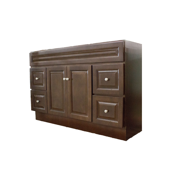 60 x 21 richmond auburn vanity with drawers