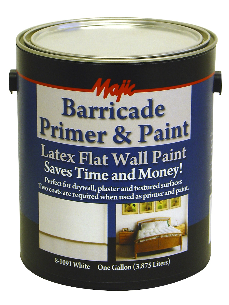 barricade primer paint white 1 gallon heeby 39 s surplus inc. Black Bedroom Furniture Sets. Home Design Ideas