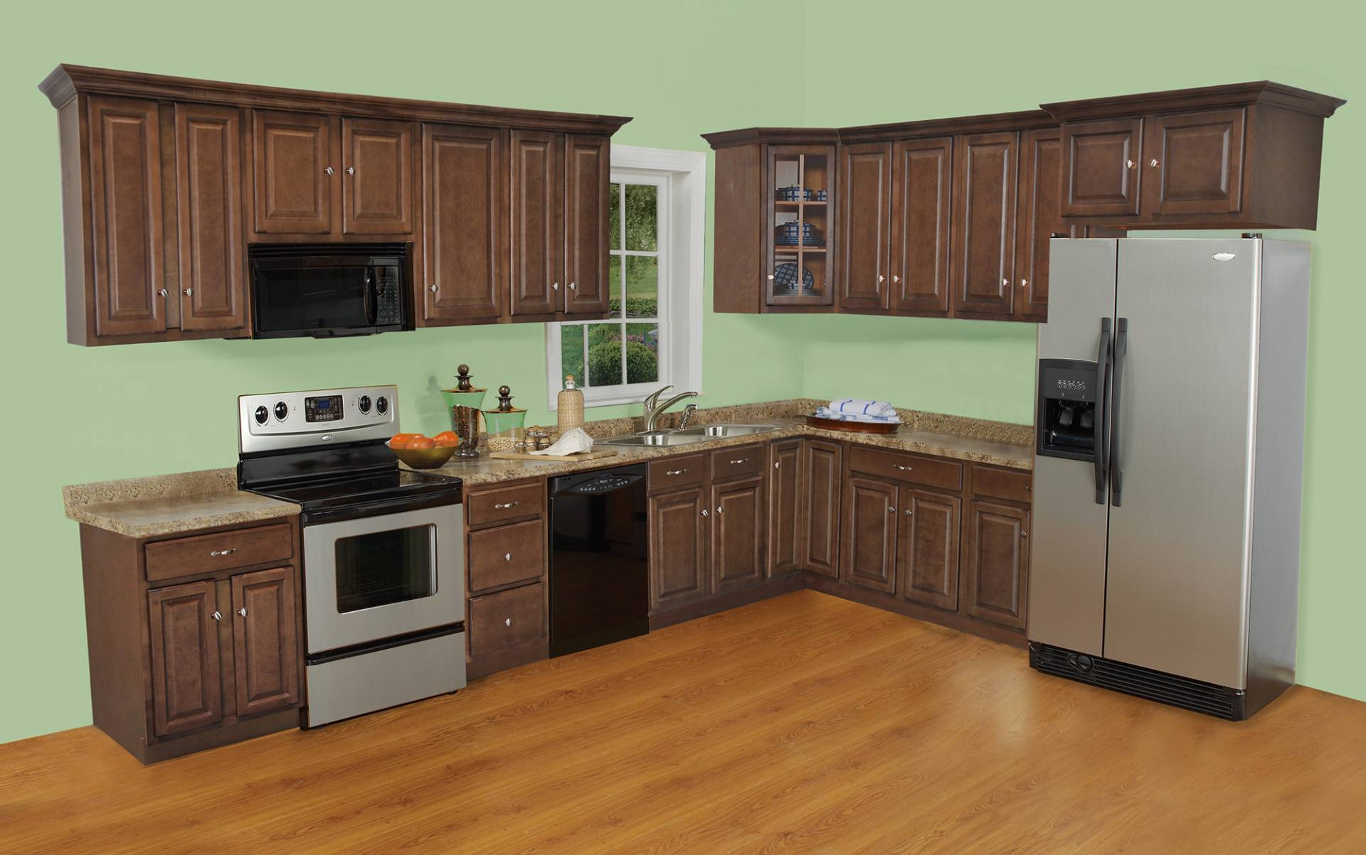 Charleston Cognac Maple Plywood Kitchen Cabinets