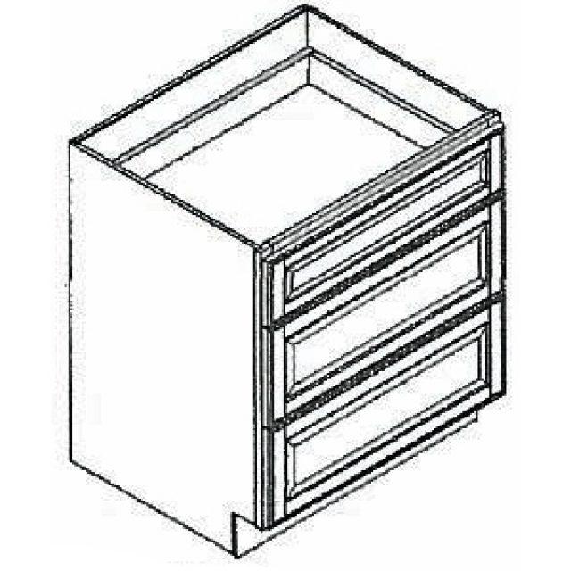 18 Wide Drawer Base Arcadia White Kitchen Cabinet Heeby S Surplus Inc