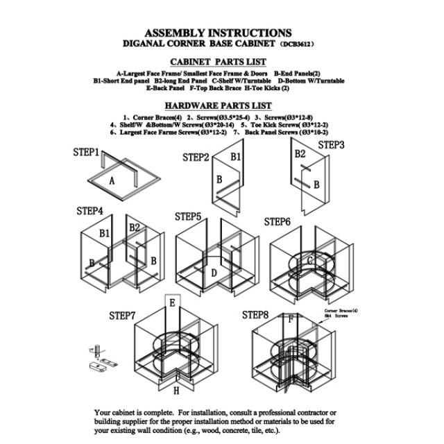 Kitchen Assembly Instructions Archives Heebys Surplus Inc