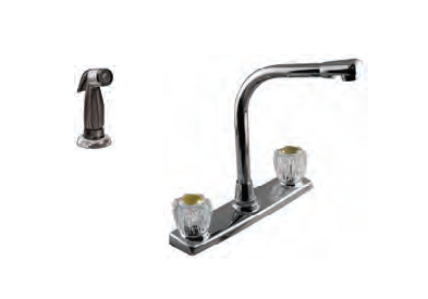 Aqua Plumb Two Handle High Spout Kitchen Faucet