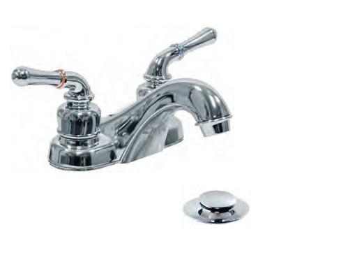 Aqua Plumb Chrome NonMetallic Two Handle Fancy Plastic Bathroom - Plastic bathroom faucet