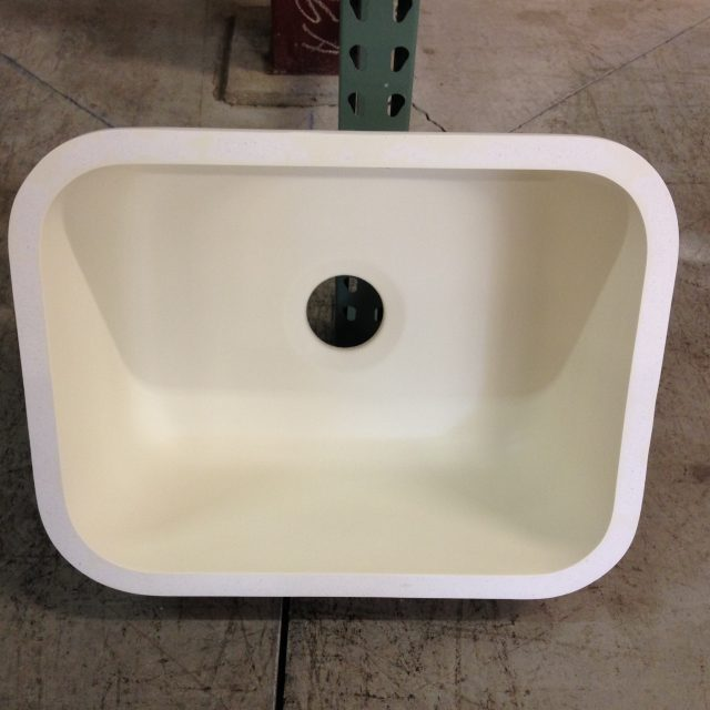 Ivory Single Bowl Composite Undermount Sink