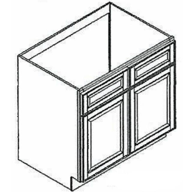 42 Wide Sink Base Grand Reserve Cherry Kitchen Cabinet Heeby S Surplus Inc