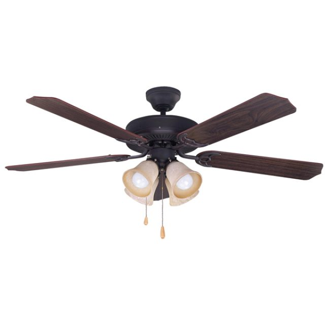 Canarm St James Oil Rubbed Bronze 52 Ceiling Fan With Light
