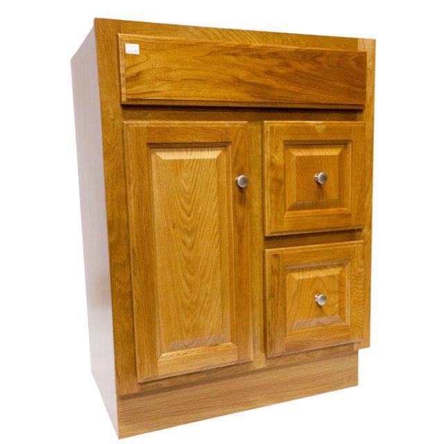 Bathroom Vanity Regal Oak, 24u2033 X 18u2033 1 Door, 2 Drawers