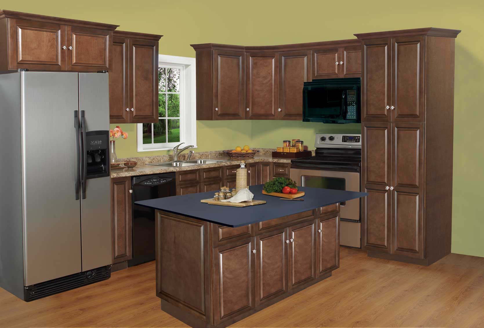 richmond auburn maple kitchen cabinets assembly required heeby 39 s surplus inc. Black Bedroom Furniture Sets. Home Design Ideas