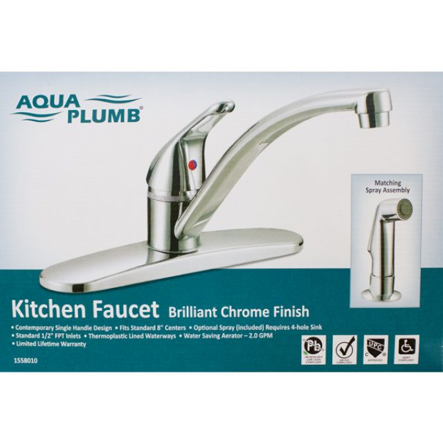 Aqua Plumb Single Handle Faucet Brushed Nickel