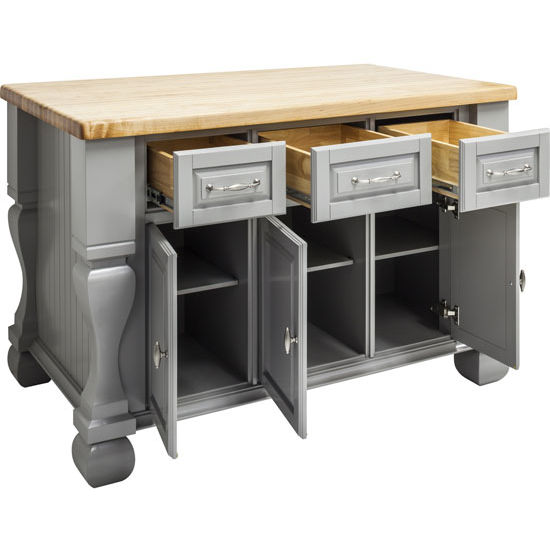 Kitchen Island Using Stock Cabinets: Tuscan Island Cabinet Gray