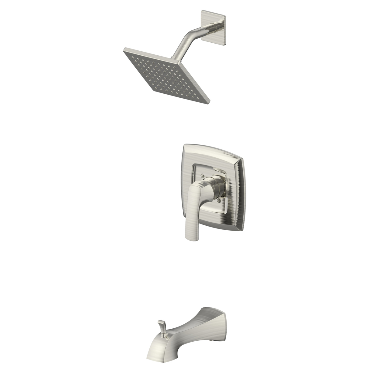 Freendo Cardania Tub and Shower Set Brushed Nickel | Heeby\'s Surplus ...