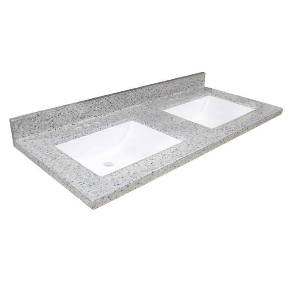 Double Wave Bowl Vanity Tops : Transitional vanity top quot double bowl moonscape