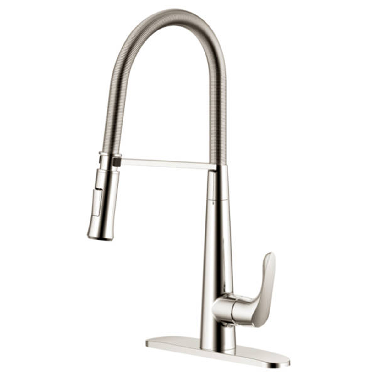Freendo Coil Pull Down Kitchen Faucet Brushed Nickel Heeby S Surplus Inc