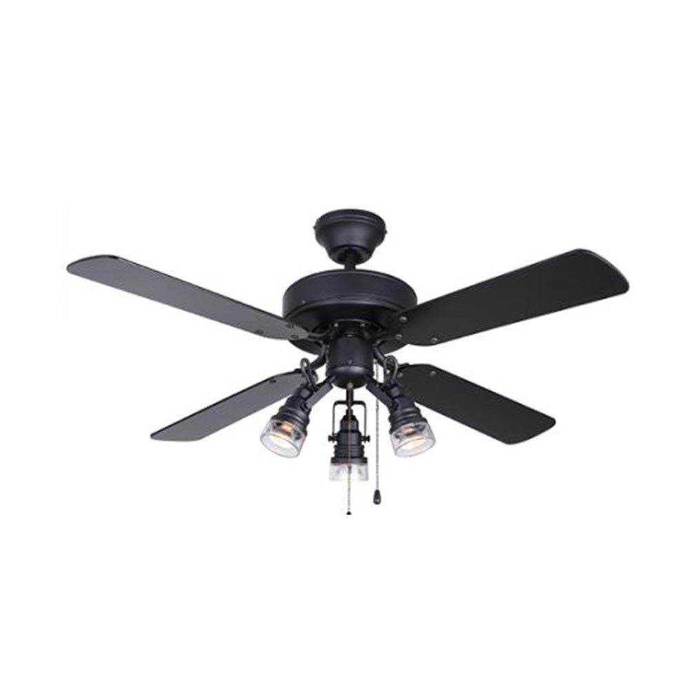 Canarm Brock 42 Black Ceiling Fan With