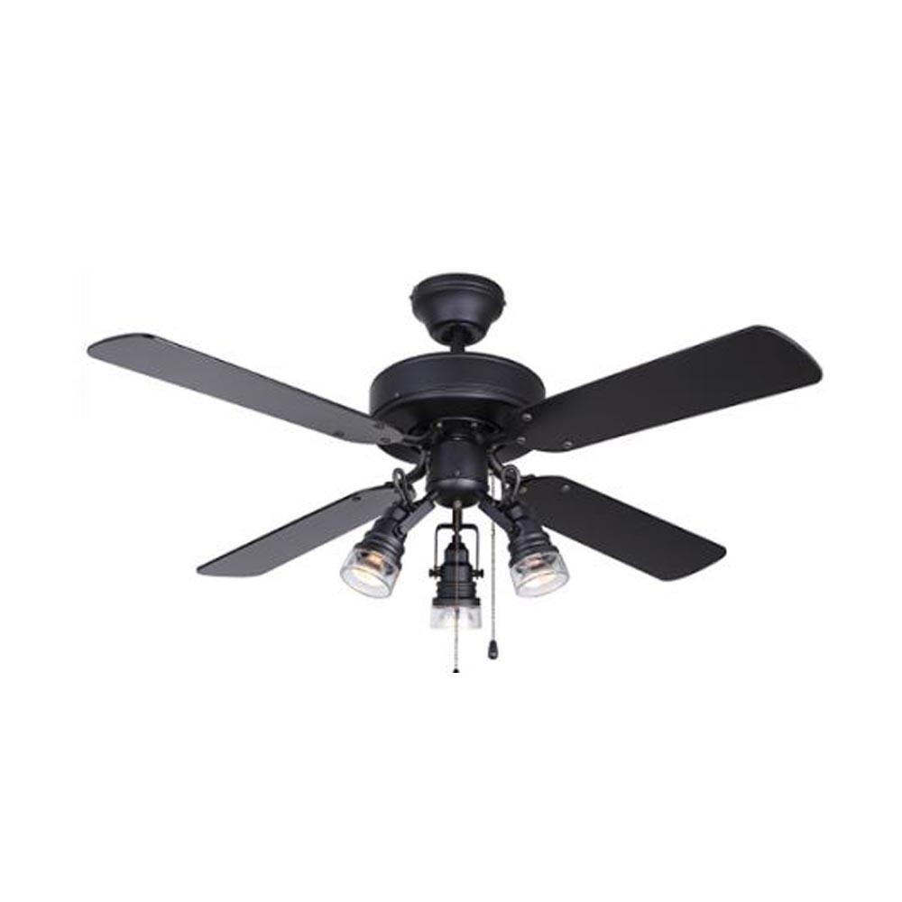 Canarm Brock 42 Black Ceiling Fan With Light Heeby S Surplus Inc