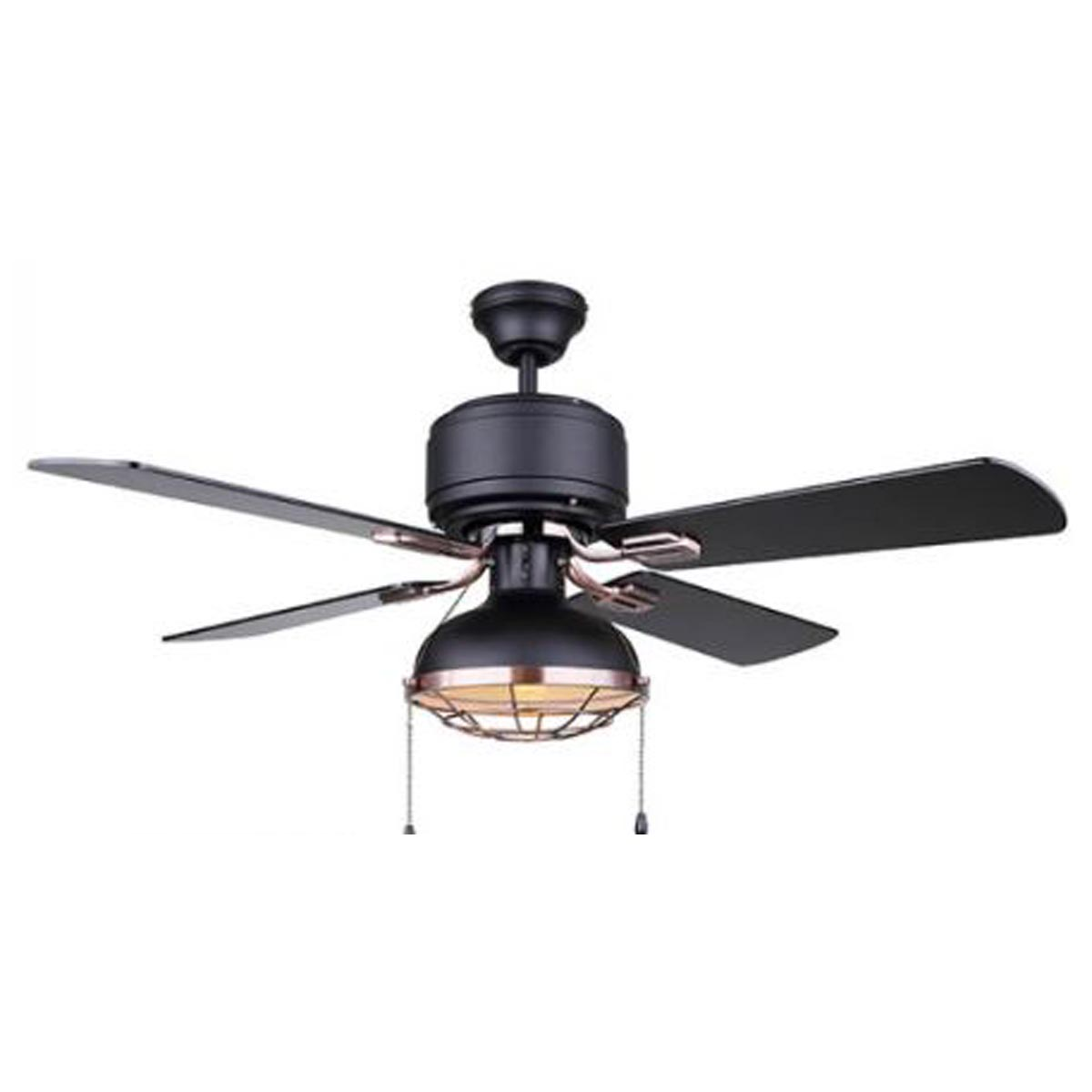 Canarm Gunnar 42 Ceiling Fan With Light Matte Black W Bronze Heeby S Surplus Inc