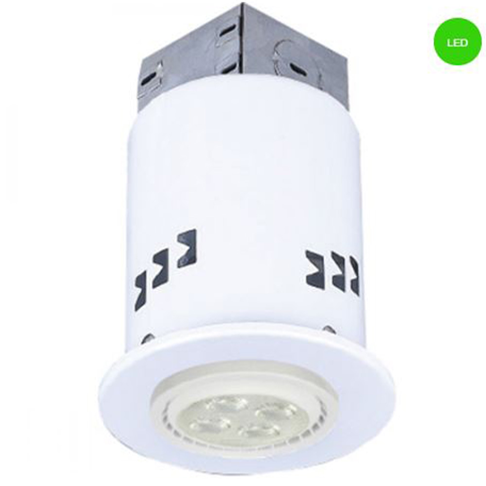 3 White Led Ic Rated Dimmable Recessed