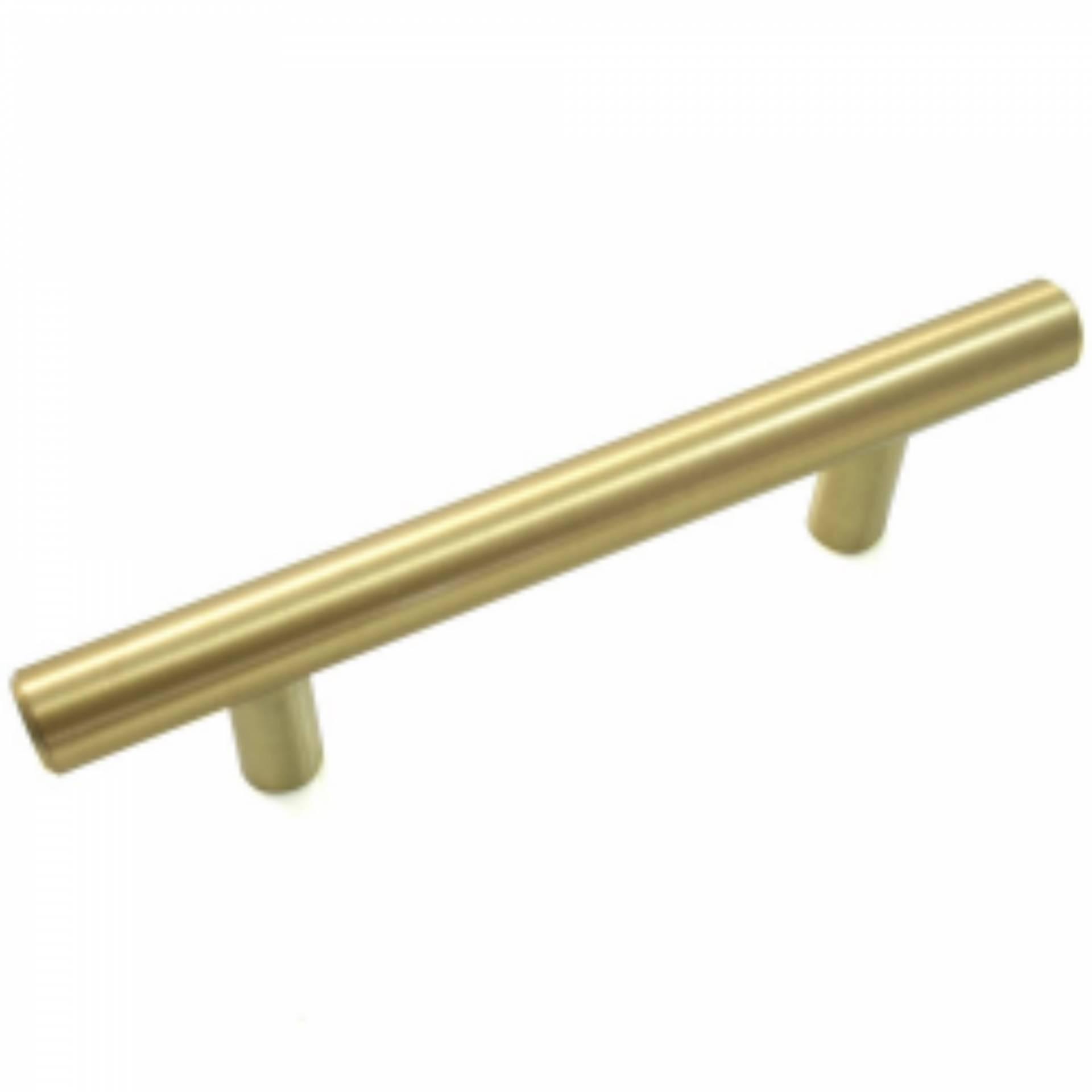 96mm Satin Brass T Bar Cabinet Pull Heeby S Surplus Inc